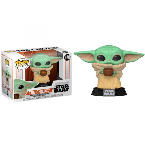 Funko POP Star Wars Mandalorian The Child with Cup